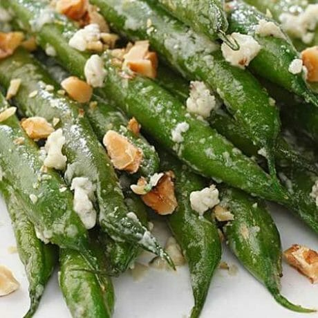 Haricots verts au fromage