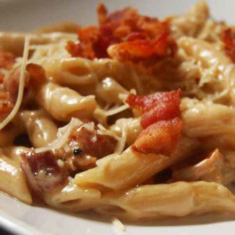 Macaroni aux champignons et à la crème