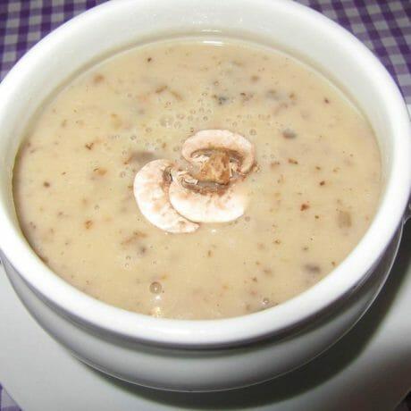 Potage aux châtaignes et champignons