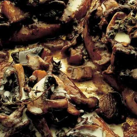 Fois de porc gratiné aux cépe
