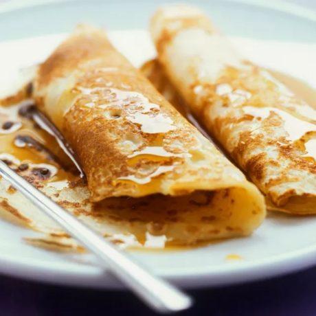 crêpes au miel et aux noix