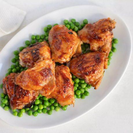 Cuisses de poulet grillées au barbecue
