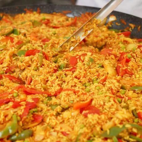 Paella espagnole végétarienne et végétalienne