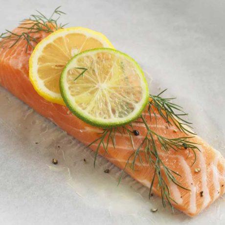 Filets de saumon au citron et à l'aneth