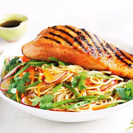 Saumon Miso grillé